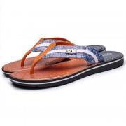 Lichtgewicht casual Fashion outdoor Teenslippers strand schoenen voor mannen (kleur: oranje maat: 44)