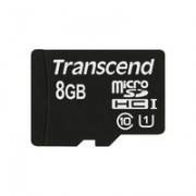 Transcend 8GB microSDHC Memory Card Premium 400x Class 10 UHS-I with microSD Adapter