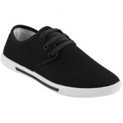 World WEAR Mens Black Lace-up Smart Casuals