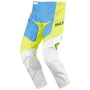 Scott 350 Race Pantalones Motocross 2016 Blanco Azul Amarillo 30