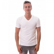 Claesens Stretch T-Shirt White V-neck TWO PACK ( CL 1223) - Wit - Size: 2X-Large