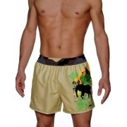 Hom Пляжные шорты с принтом в стиле сафари HOM Safari 07710cT5