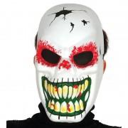 Merkloos Horror skelet masker met lange tanden
