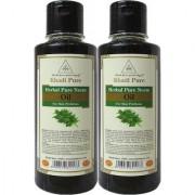 Khadi Pure Herbal Pure Neem Hair Oil - 210ml (Set of 2)