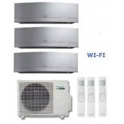Daikin Kit Trial Emura 3mxs68g + 3 X Ftxg25ls-W 9+9+9 Wi-Fi