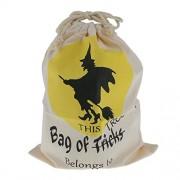 ELECTROPRIME® Halloween Broom Witch Bag Beam Port Drawstring Gift Sack Bags