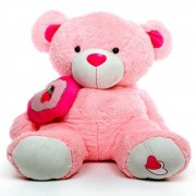 Pink 5 Feet Big Teddy Bear with a heart