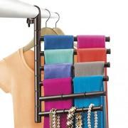 Lynk Hanging Pivoting Scarf Rack and Accessory Holder Closet Hanger Organizer Rack Bronze