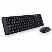 Kit tastatura si mouse Logitec MK220, Negru