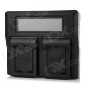 """""""3 """"""""NP-FW50 cargador de bateria LCD para SONY NEX5C NEX5N A33 - Negro (UE)"""""""
