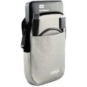 GIZGA 2.5 Hard Drive Case - Impact Resistant Jacket Pouch (Silver)