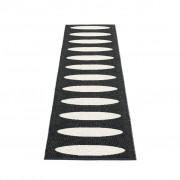 pappelina Ella Outdoor-Teppich - schwarz / vanille 70 x 225cm