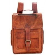 "iHandikart Handmade Leather Bag | Rucksack Backpack with Large Pockets | 15"" x 11"" x 4"" 20 L Backpack(Tan)"