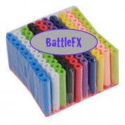 Nerf N-Strike Elite Compatible Darts / Bullets - RAINBOW COLORS - Set of 100 - Closest to Nerf Brand - Fits ALL Nerf Guns Except Mega by BattleFX Nerf Compatible Darts