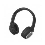 Astrum HT300 sztereó fekete bluetooth 4.2 összecsukható fejhallgató beepitett mikrofonnal, bőr fülpárnákkal