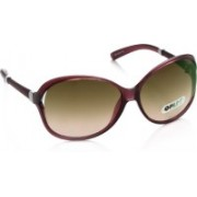 Opium Over-sized Sunglasses(Pink, Brown)
