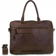DSTRCT Leren Laptoptas 15.6 inch Raider Road Ohio Cognac