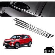 Trigcars Hyundai Creta Car Window Lower Garnish Chrome