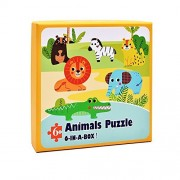 6-IN-A-BOX Animals Puzzle Floor Puzzles Intellect Toy For Toddlers,Kids,Boys,Girls Age 3 Years or Up 0.12inch Thick Colorful