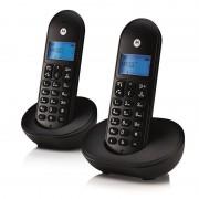 Motorola T102 Duo Telefone Sem Fios Preto