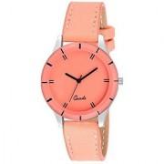 Lava Creation Stylish Orange Starp With Round Dial Girls Wrist Watch For Women (cut glass-orange)