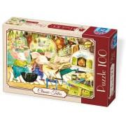 Puzzle D-Toys - Cei trei purcelusi, 100 piese (Dtoys-72962-EM-02)