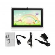 7-pulgadas De Pantalla Táctil HD Niños Tablet PC 512MB +8GB US Plug Estudiantes Tablet Blanco