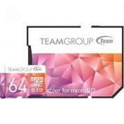 Карта памет Team Group Color Card II 64GB Micro SDHC/SDXC UHS-I U3 + SD Adapter