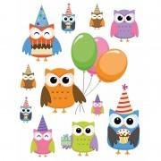 Merkloos Autoraam stickers uilen