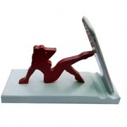 Onlineshoppee Wooden Unique Design Mobile Tablet Ipad Stand - Red