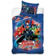 Lenjerie din bumbac pentru copii Justice League, 140 x 200 cm, 70 x 80 cm