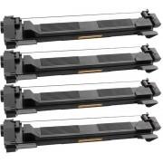 4 Pack Compatible Zwart TN1050 Toner voor Brother DCP-1510, Brother DCP-1512, Brother MFC-1810 Brother HL-1110 HL-1112