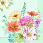 R2S.414COTT Papírszalvéta 33x33cm, Cottage Flowers, 20db-os