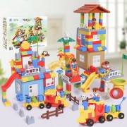 253PCS City Park Building Blocks Set For Boys Girls, Plastic Building Bricks Puzzle STEM Educational Toy For Kids Children
