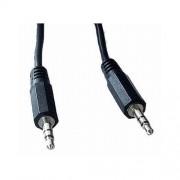 Cablu Audio stereo, conectori 2x jack de 3.5mm tata-tata, lungime cablu: 1.2m, bulk, Negru, GEMBIRD (CCA-404)