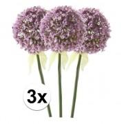 Bellatio flowers & plants 3x Lila sierui kunstbloemen 70 cm