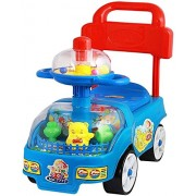 Funny Rider & Walker Push Along Small Magic Car With Spin Toy For Kids