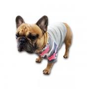Bluza dla buldoga francuskiego KOMANDO BULWA zielono różowa