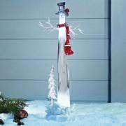 Decorative LED snowman Dumle, 34 cm
