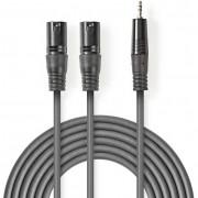 Nedis COTH15310GY30 2x XLR - 3.5mm Jack kábel - 3m