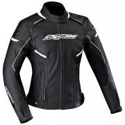 Ixon Stunter Ladies Leather Jacket Black White XS