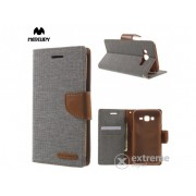 Husă Mercurycase Canvas Diary pentru Samsung Galaxy J5 (SM-J500), gri