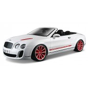 2012 2013 Bentley Continental Supersports ISR Convertible White 1/18 by BBurago 11035