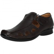 MARCO FERRO Men's Brown Slip on Sandals