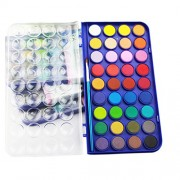 SAYEEC Watercolour Set, 36 Assorted Colours Non-Toxic Fundamentals Water Travel Pocket Set with Built in Palette Lid Case and Paintbrush for Kids, Artists Crafter, Xmas Gift