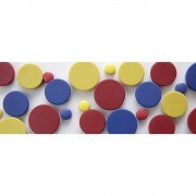 office akktiv Rundmagnet, Kunststoff farbig sortiert, blau, gelb, rot Ø 30 mm, VE 36 Stk