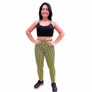 Conjunto Fitness Calça Legging Alto Relevo e Top Fitness em - - DB111