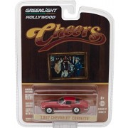 Greenlight 1967 Chevy Corvette Stingray, Cheers, Ruby Red - 44770 1/64 Scale Diecast Model Toy Car