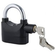 Mobone Alarm Anti-Theft Padlock Security System Door Motor Bike Bicycle Safety Lock(Black)