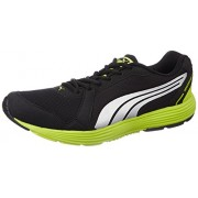 Puma Men's Descendant v2 IDP Black-Puma Silver-Lime Punch Sneakers - 10 UK/India (44.5 EU)